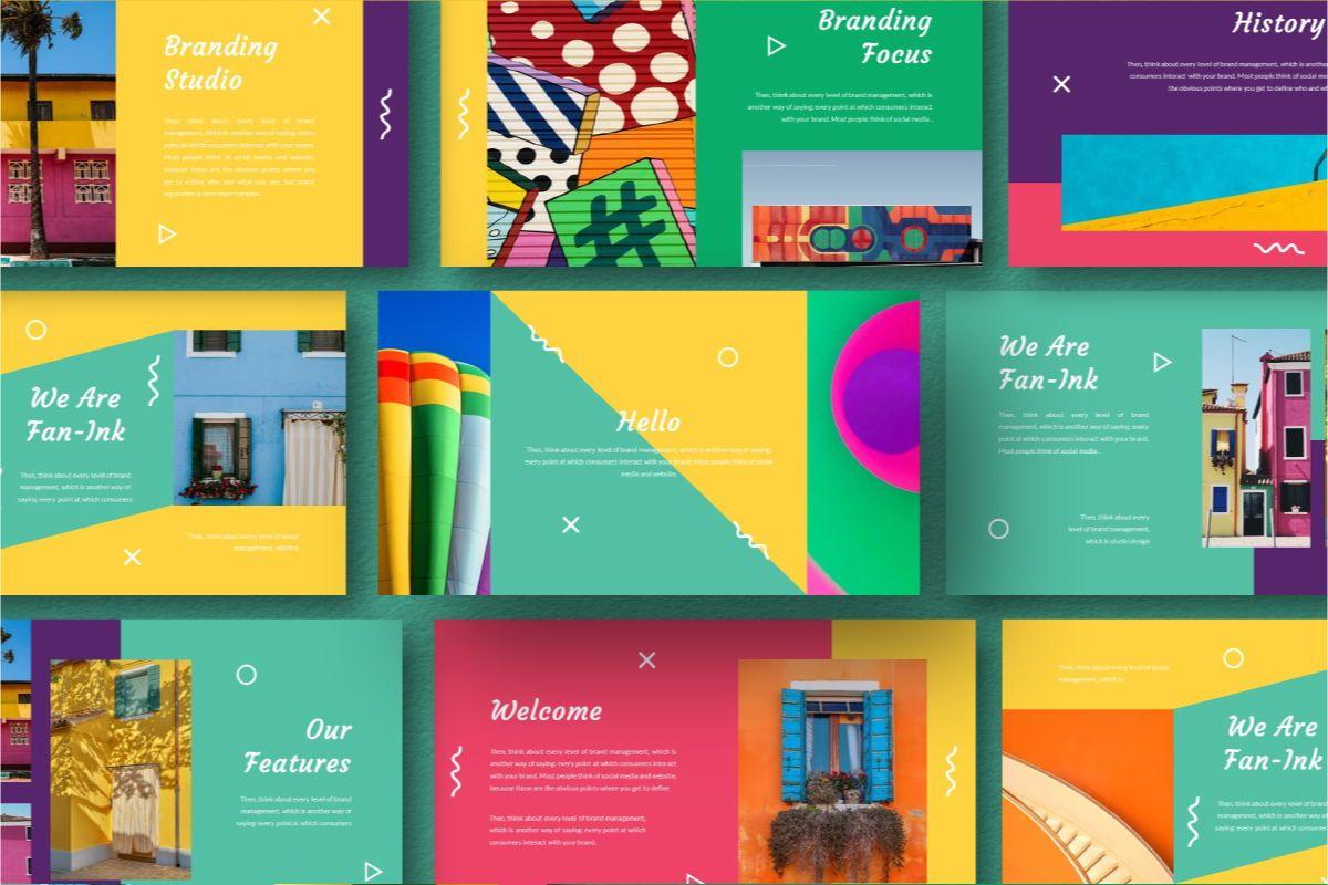 Fan-Ink Brand Google Slides Template, Slide 8, 06753, Business Models — PoweredTemplate.com