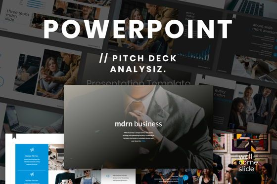 Presentation Templates: MDRN Business Powerpoint #06755