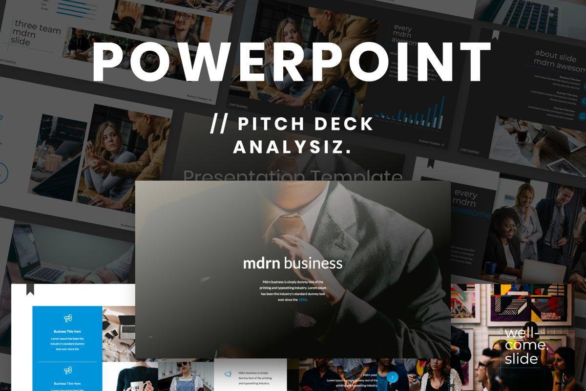 MDRN Business Powerpoint, 06755, Presentation Templates — PoweredTemplate.com