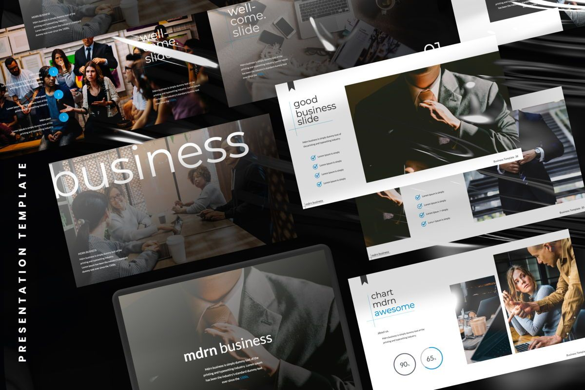 MDRN Business Powerpoint, Slide 2, 06755, Presentation Templates — PoweredTemplate.com