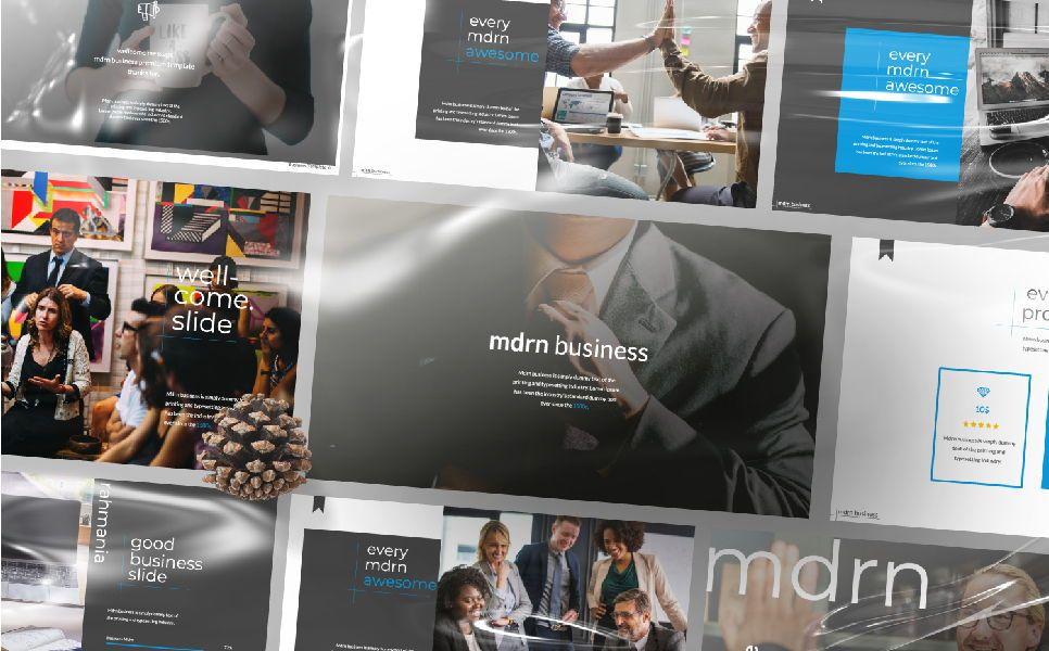MDRN Business Keynote, 06756, Presentation Templates — PoweredTemplate.com