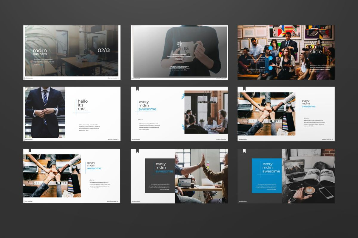 MDRN Business Keynote, Slide 4, 06756, Presentation Templates — PoweredTemplate.com