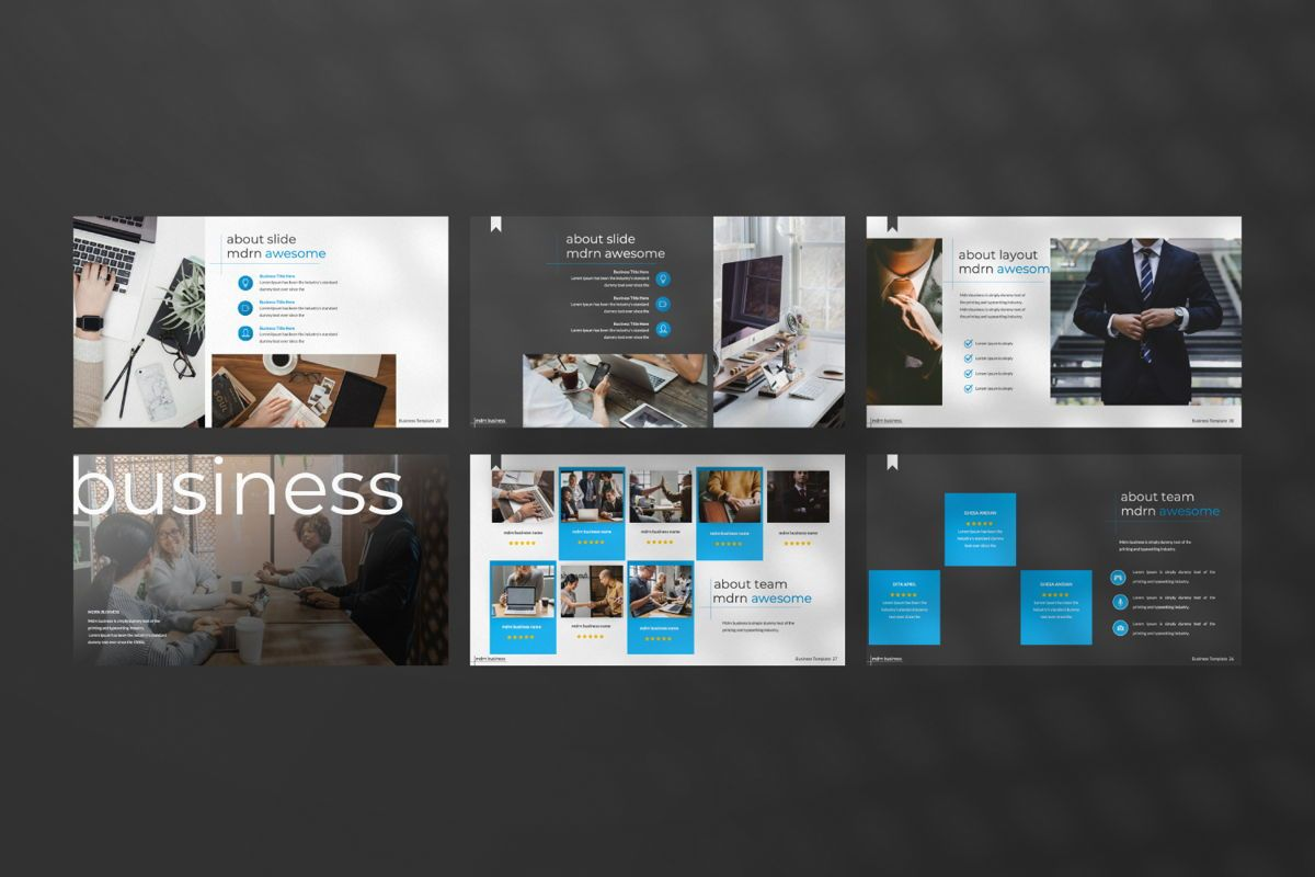 MDRN Business Keynote, Slide 6, 06756, Presentation Templates — PoweredTemplate.com