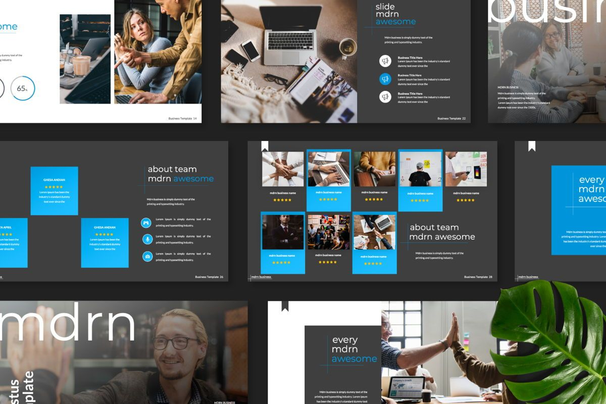 MDRN Business Keynote, Slide 8, 06756, Presentation Templates — PoweredTemplate.com