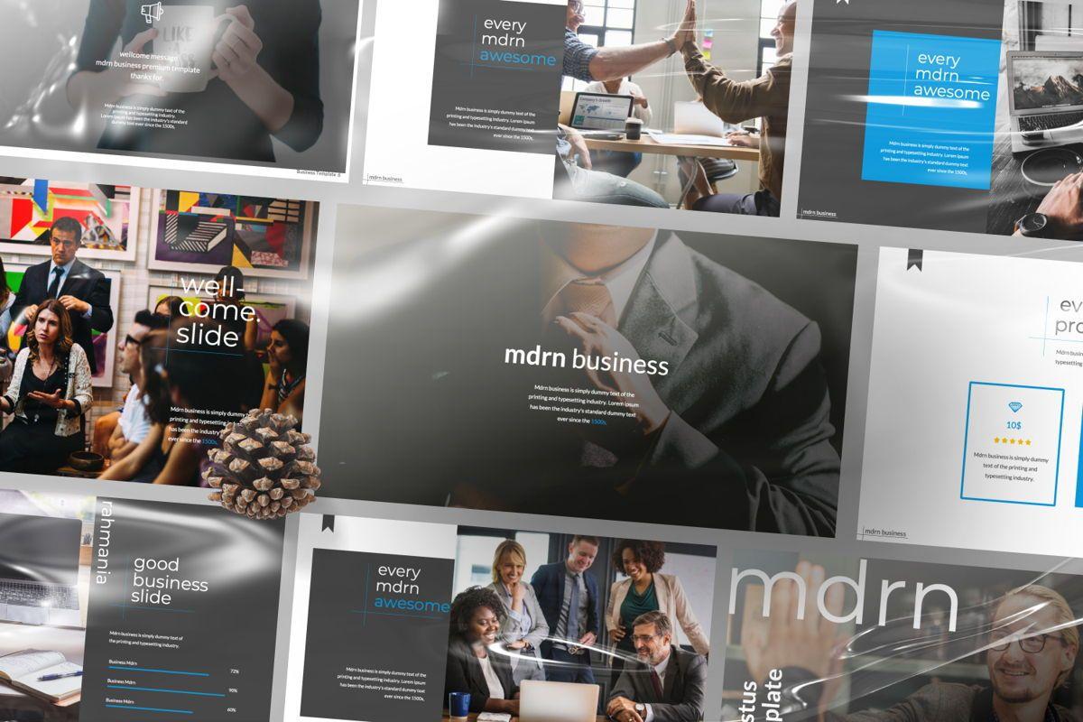 MDRN Business Google Slide, Slide 3, 06757, Presentation Templates — PoweredTemplate.com