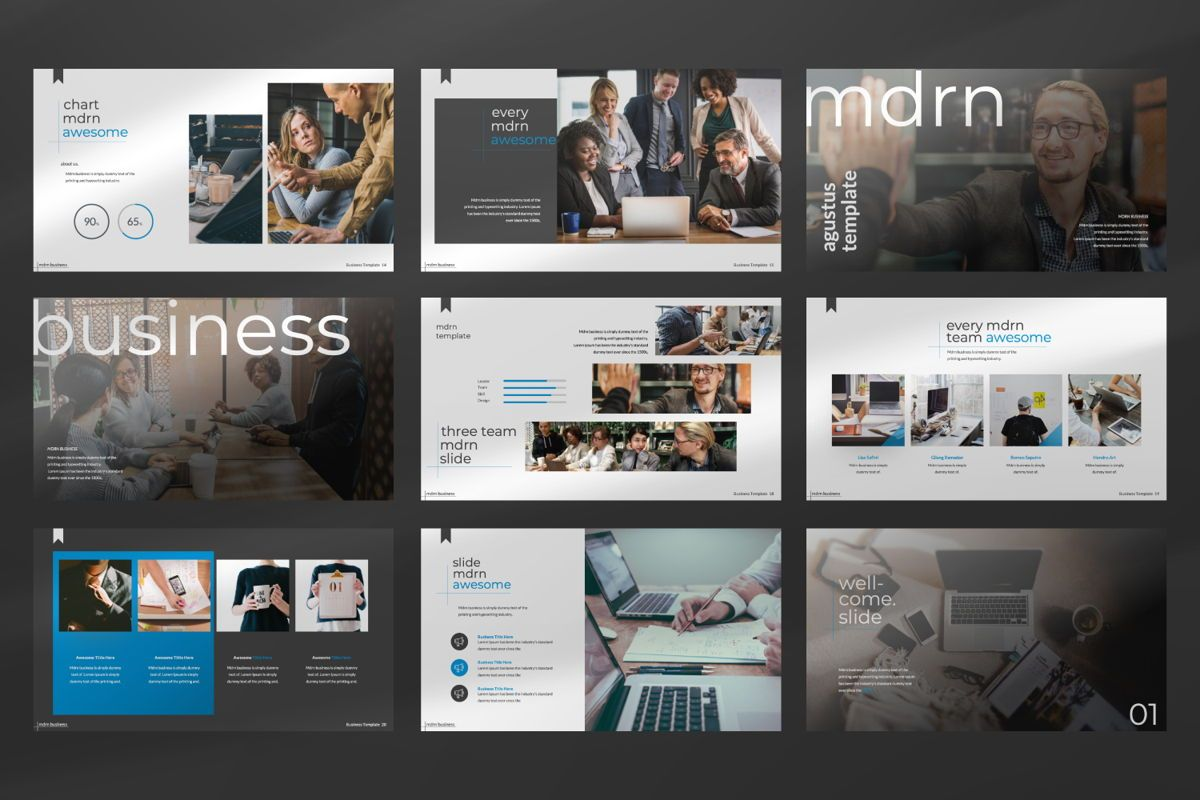 MDRN Business Google Slide, Slide 5, 06757, Presentation Templates — PoweredTemplate.com