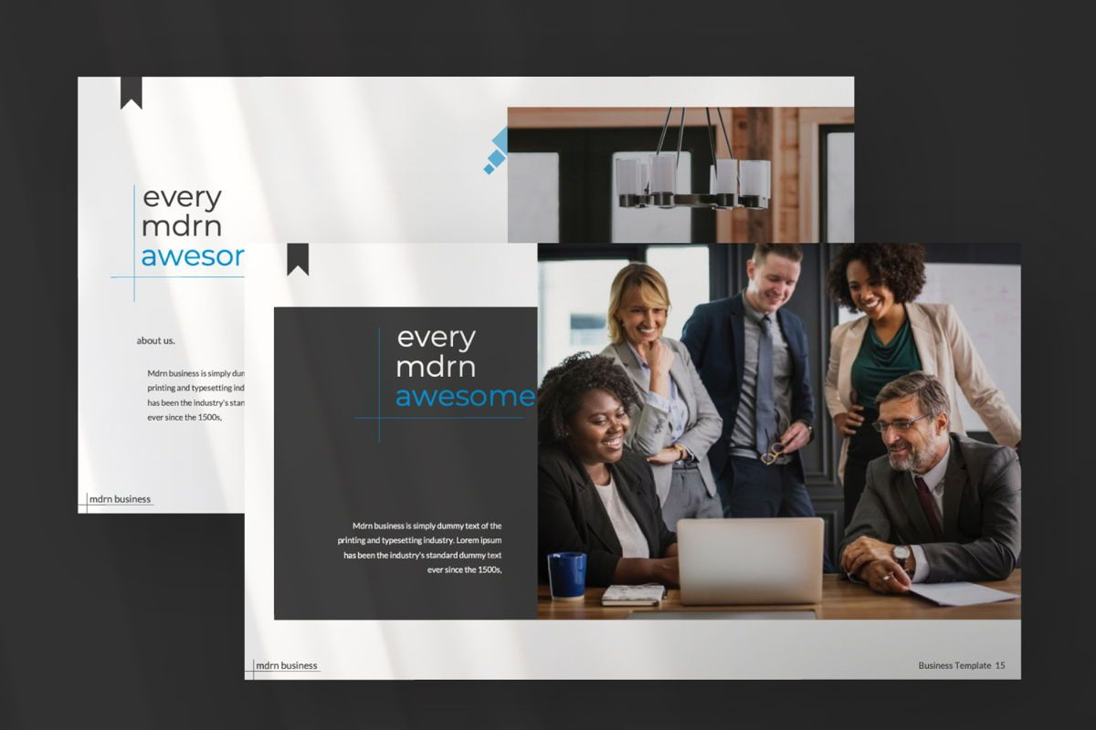MDRN Business Google Slide, Slide 7, 06757, Presentation Templates — PoweredTemplate.com