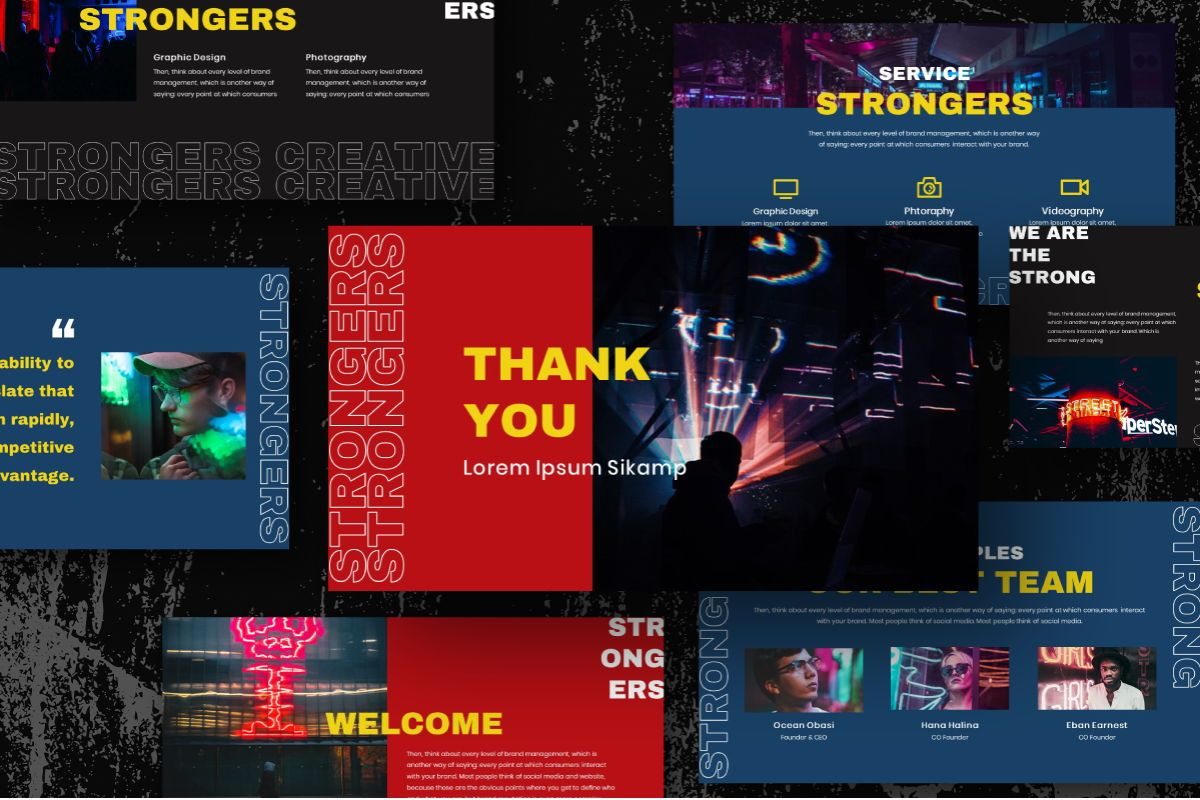 Strongers Creative Powerpoint Template, Slide 10, 06758, Business Models — PoweredTemplate.com