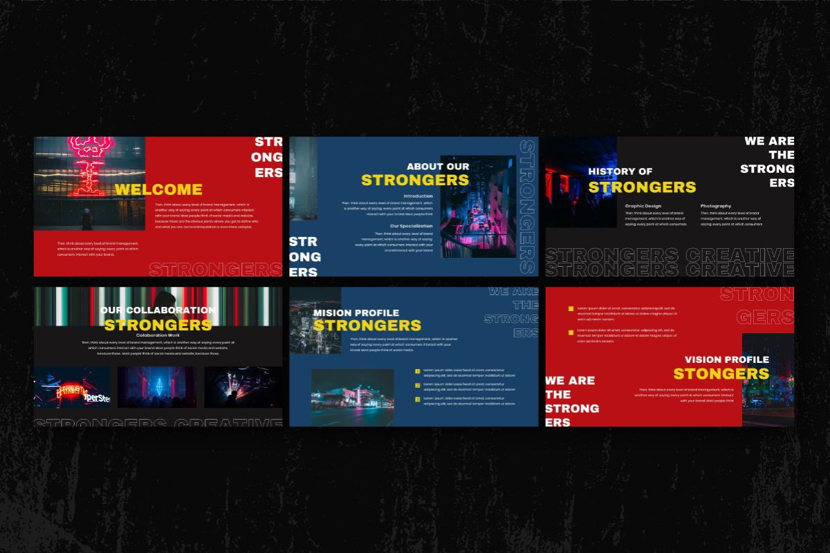 Strongers Creative Powerpoint Template, Slide 3, 06758, Business Models — PoweredTemplate.com