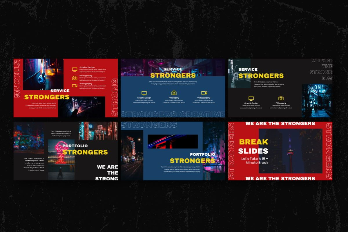 Strongers Creative Powerpoint Template, Slide 5, 06758, Business Models — PoweredTemplate.com