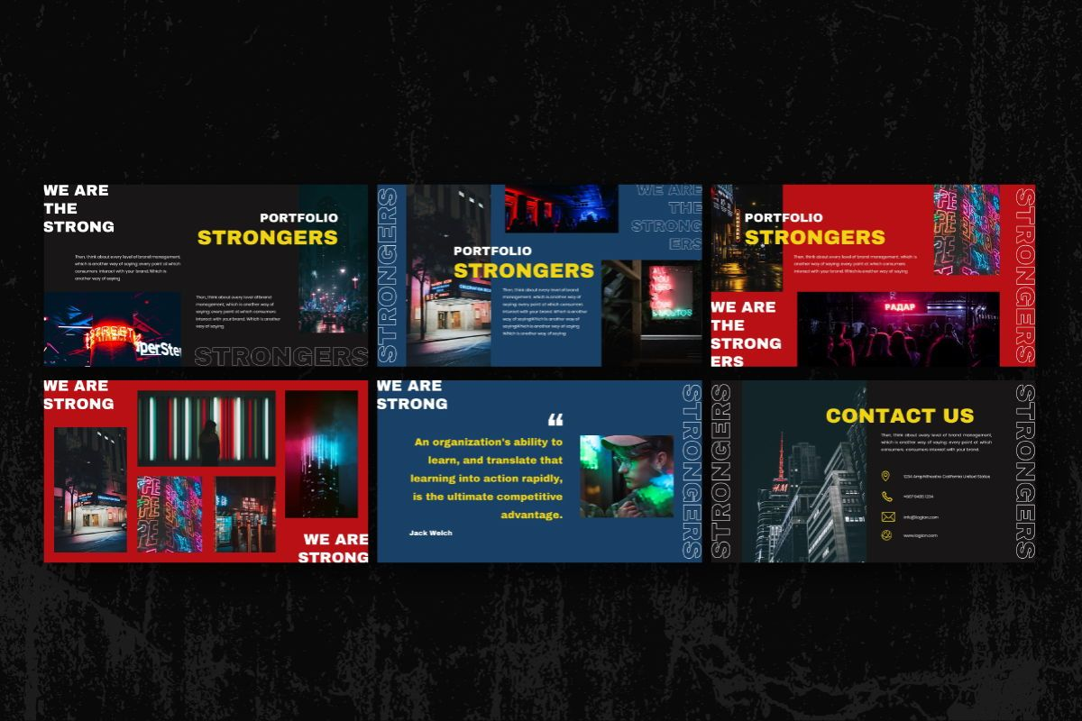 Strongers Creative Keynote Template, Slide 6, 06760, Business Models — PoweredTemplate.com