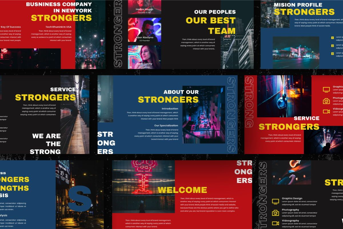 Strongers Creative Keynote Template, Slide 8, 06760, Business Models — PoweredTemplate.com