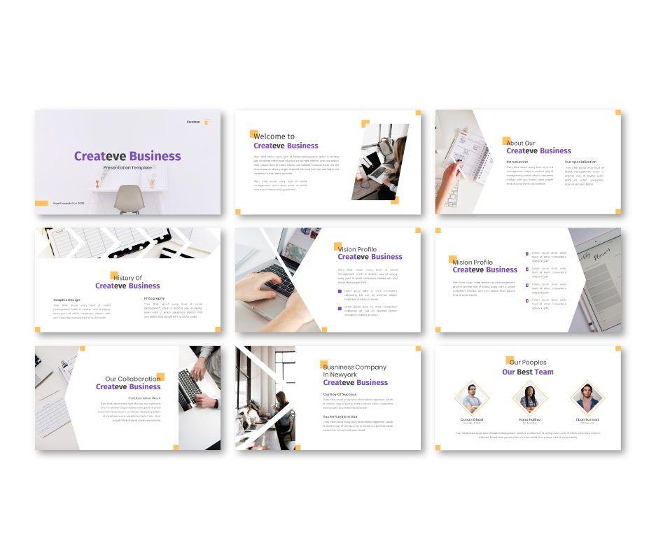 Createve Business Powerpoint Template, Slide 4, 06761, Business Models — PoweredTemplate.com