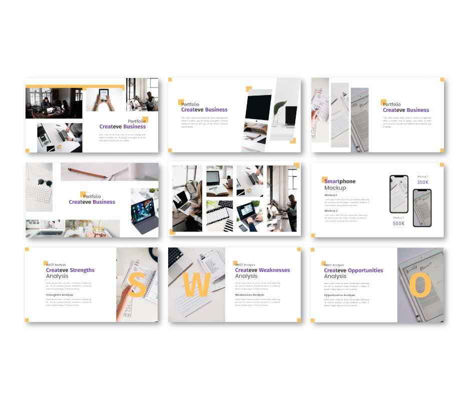 Createve Business Powerpoint Template, Slide 6, 06761, Business Models — PoweredTemplate.com