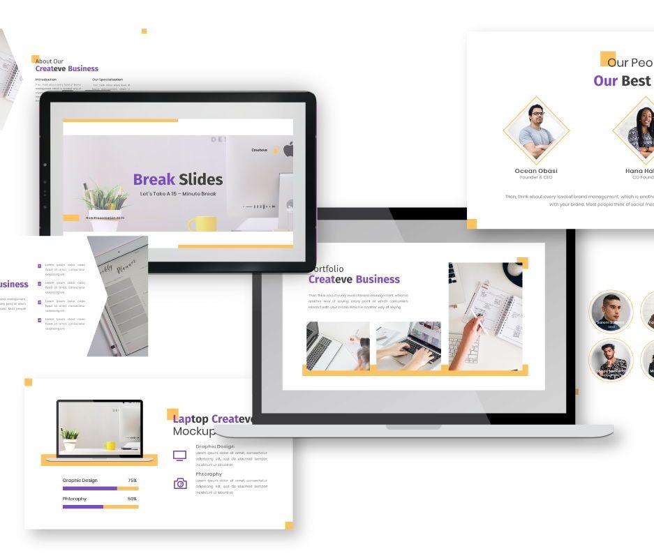 Createve Business Google Slides Template, Slide 3, 06762, Business Models — PoweredTemplate.com