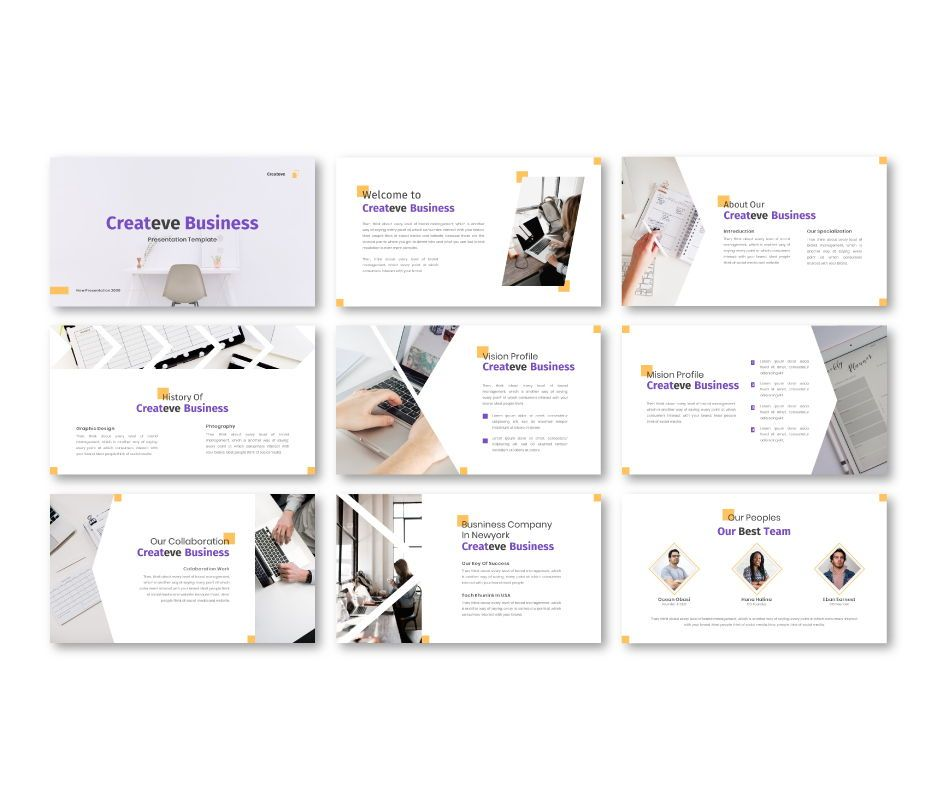 Createve Business Google Slides Template, Slide 4, 06762, Business Models — PoweredTemplate.com