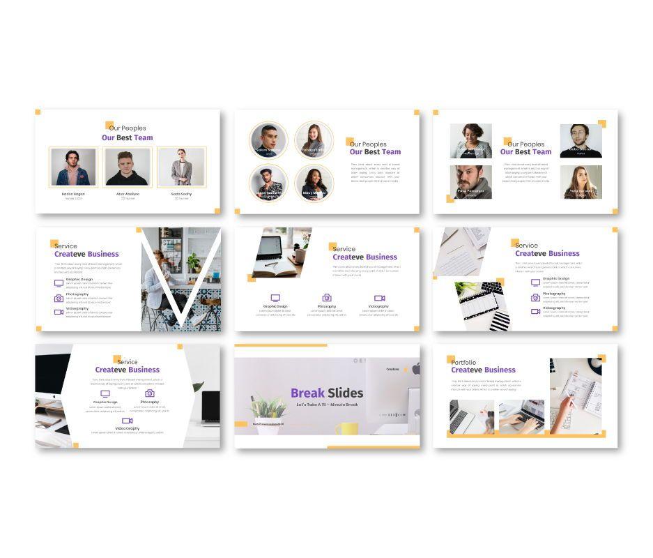 Createve Business Google Slides Template, Slide 5, 06762, Business Models — PoweredTemplate.com