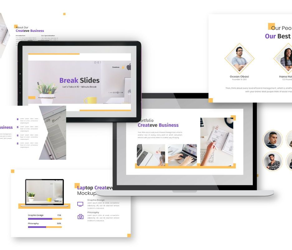 Createve Business Keynote Template, Slide 3, 06763, Business Models — PoweredTemplate.com
