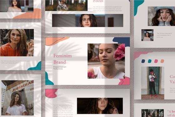 Business Models: Feminim Brand Keynote Template #06766