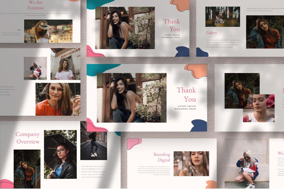 Feminim Brand Keynote Template, Slide 10, 06766, Business Models — PoweredTemplate.com