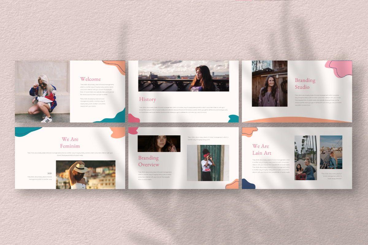 Feminim Brand Keynote Template, Slide 3, 06766, Business Models — PoweredTemplate.com