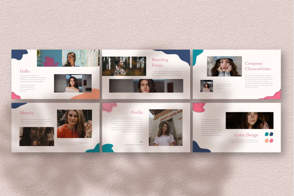 Feminim Brand Keynote Template, Slide 5, 06766, Business Models — PoweredTemplate.com