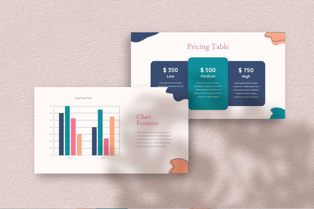 Feminim Brand Keynote Template, Slide 9, 06766, Business Models — PoweredTemplate.com