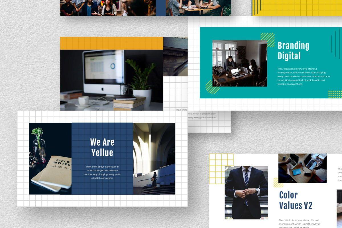 Yellue Brand Powerpoint Template, Slide 2, 06767, Business Models — PoweredTemplate.com