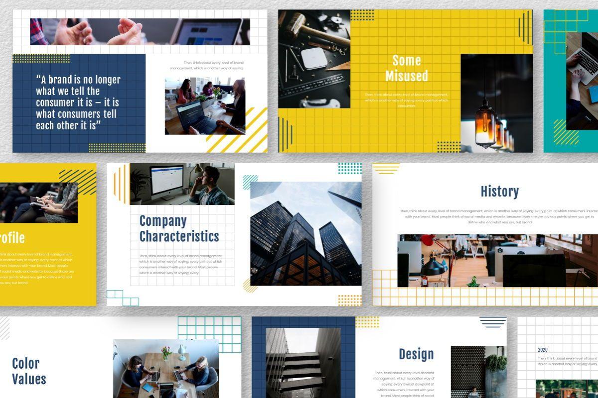 Yellue Brand Powerpoint Template, Slide 9, 06767, Business Models — PoweredTemplate.com
