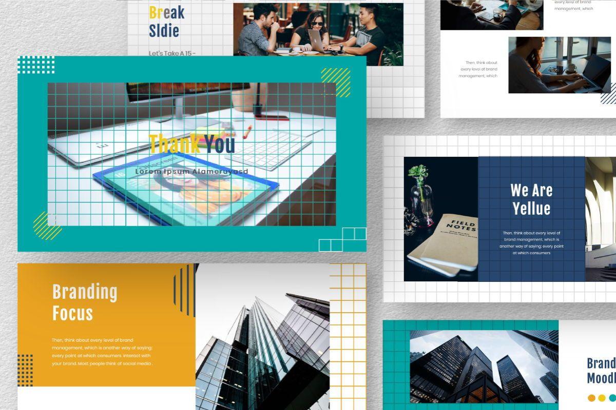 Yellue Brand Google Slides Template, Slide 10, 06768, Business Models — PoweredTemplate.com