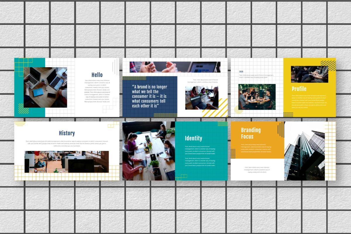 Yellue Brand Google Slides Template, Slide 3, 06768, Business Models — PoweredTemplate.com