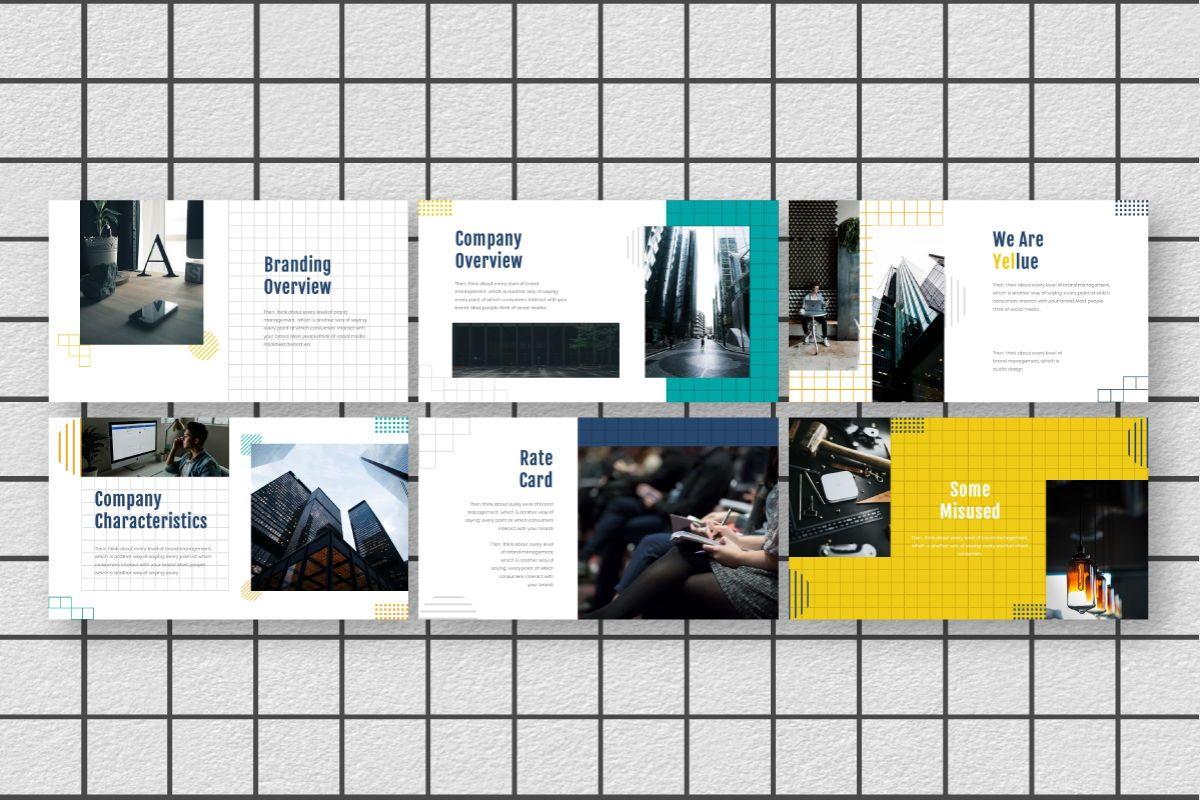 Yellue Brand Google Slides Template, Slide 4, 06768, Business Models — PoweredTemplate.com