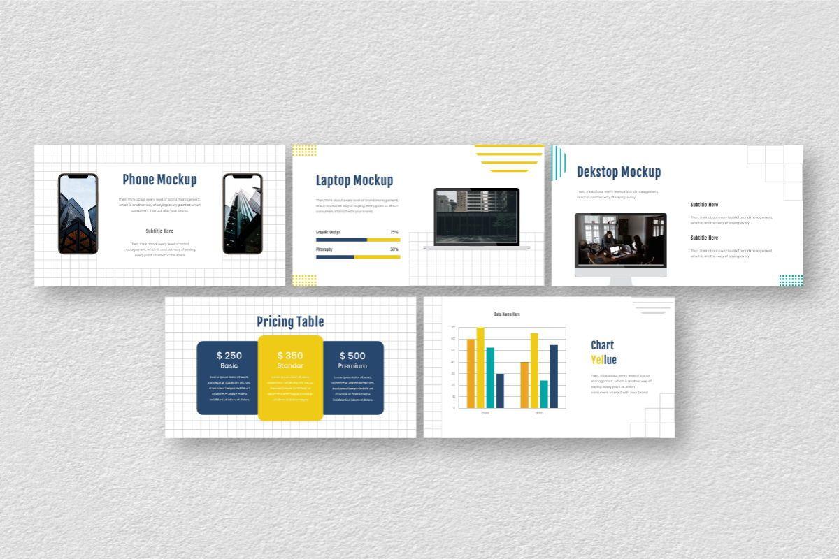 Yellue Brand Google Slides Template, Slide 8, 06768, Business Models — PoweredTemplate.com