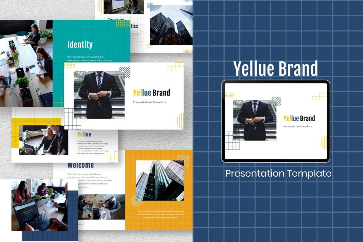 Yellue Brand Keynote Template, 06769, Business Models — PoweredTemplate.com