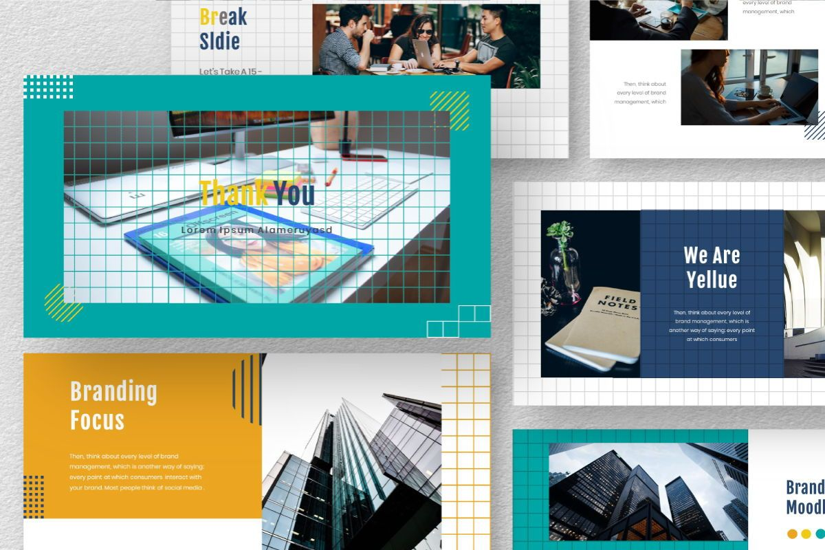 Yellue Brand Keynote Template, Slide 10, 06769, Business Models — PoweredTemplate.com