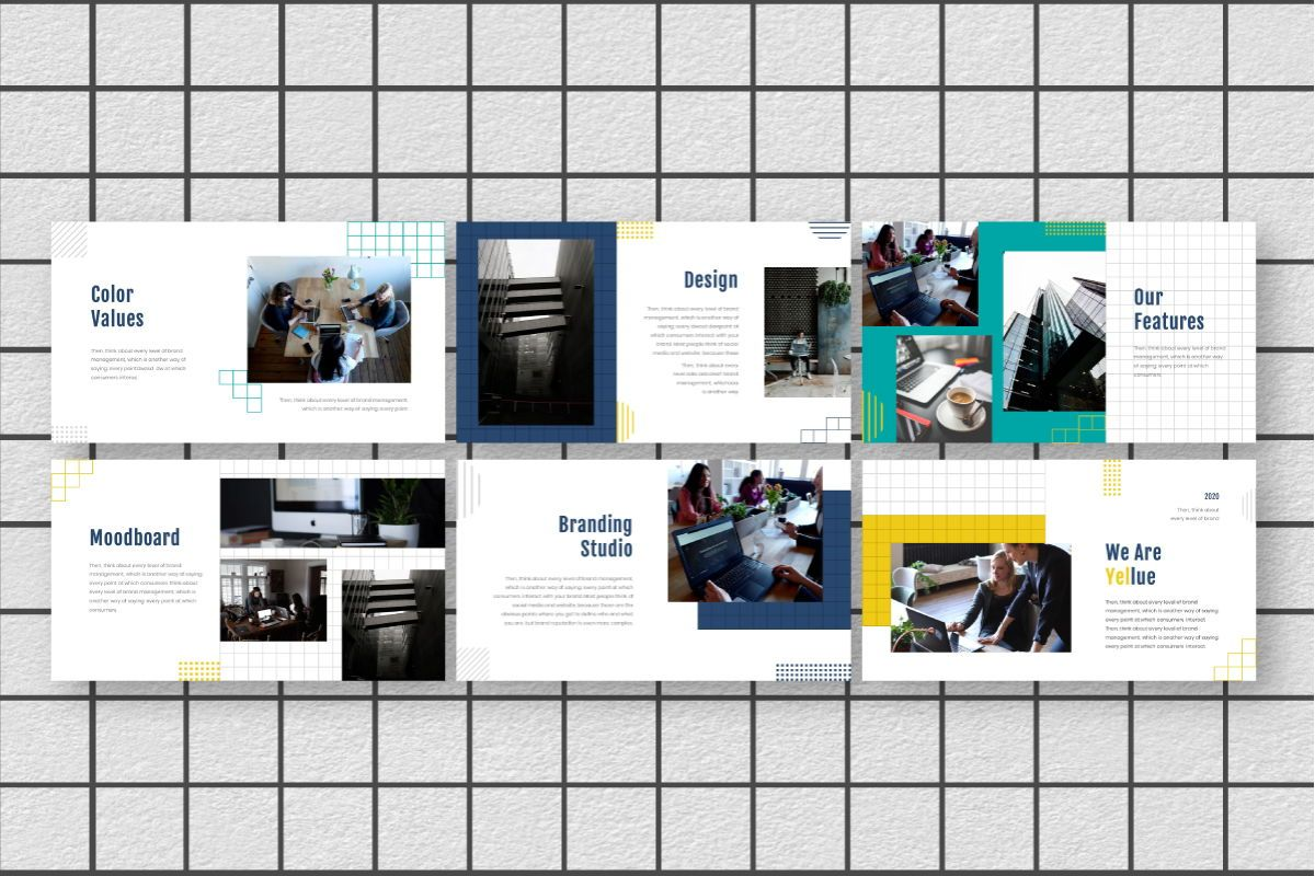 Yellue Brand Keynote Template, Slide 5, 06769, Business Models — PoweredTemplate.com