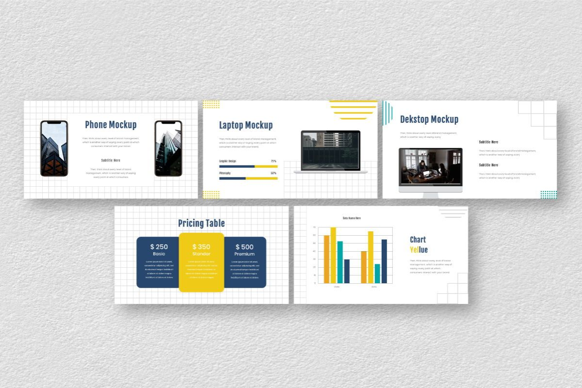 Yellue Brand Keynote Template, Slide 8, 06769, Business Models — PoweredTemplate.com