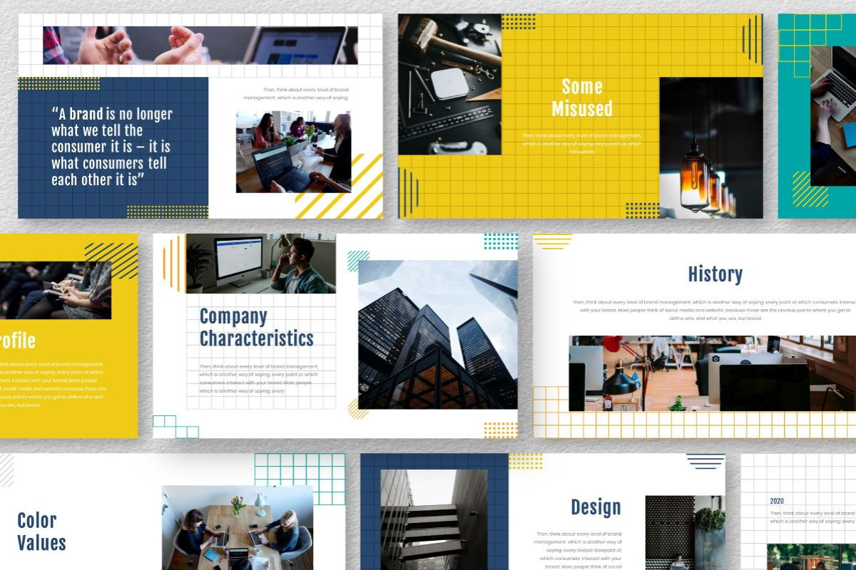 Yellue Brand Keynote Template, Slide 9, 06769, Business Models — PoweredTemplate.com