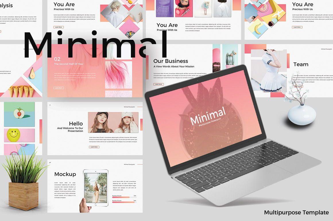 Minimal Creative Google Slide, 06772, Presentation Templates — PoweredTemplate.com