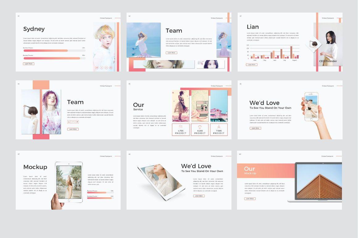Minimal Creative Google Slide, Slide 3, 06772, Presentation Templates — PoweredTemplate.com