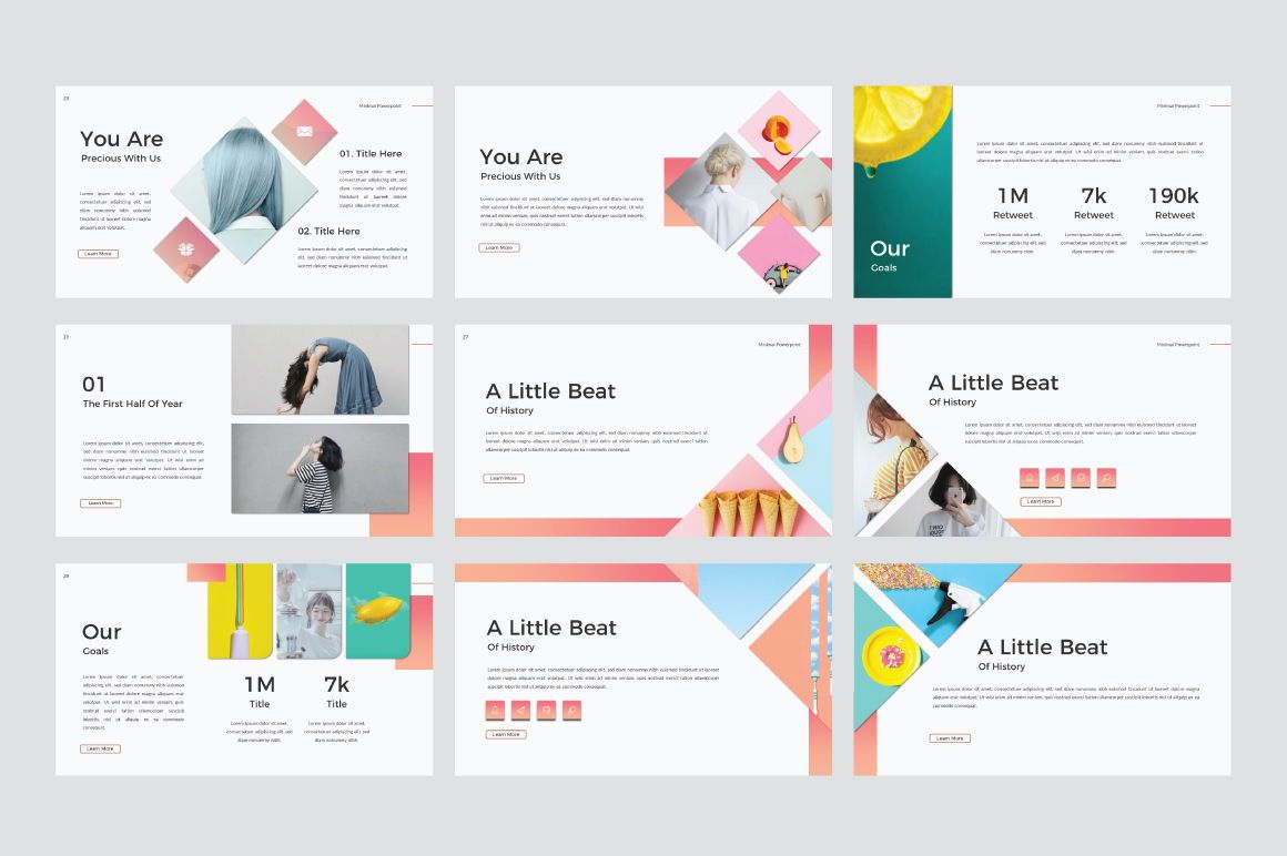 Minimal Creative Google Slide, Slide 5, 06772, Presentation Templates — PoweredTemplate.com