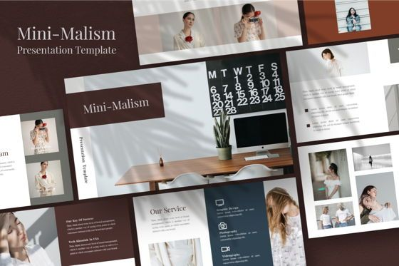 Business Models: Mini-Malism Multipurpose Powerpoint Template #06775