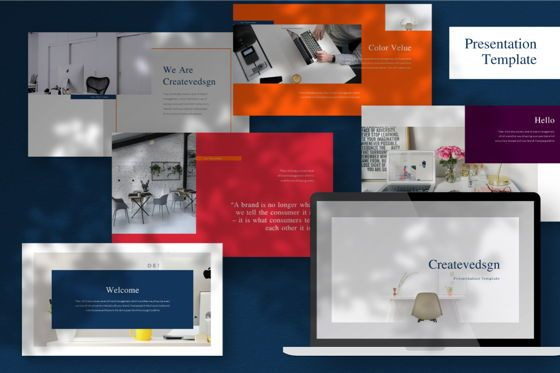 Business Models: Createvedsgn Powerpoint Template #06781