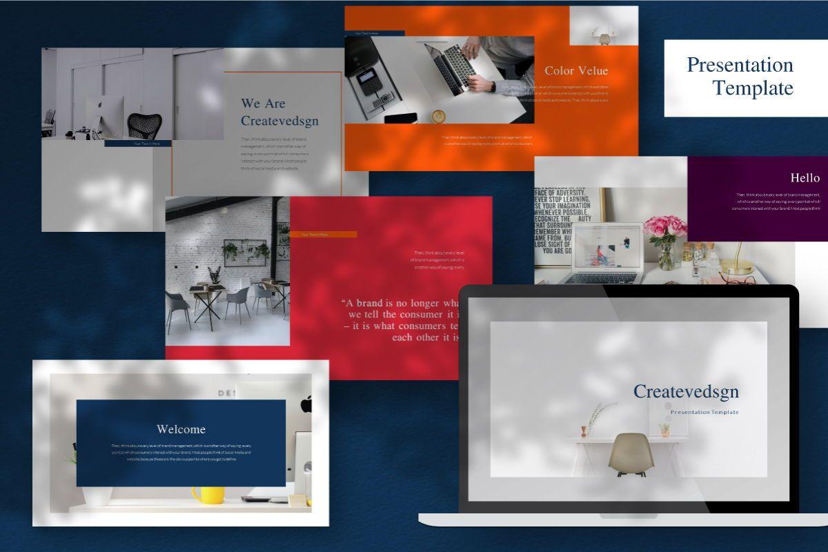Createvedsgn Powerpoint Template, 06781, Business Models — PoweredTemplate.com
