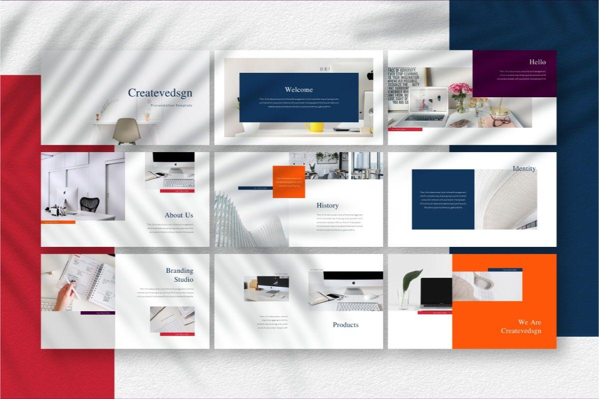 Createvedsgn Google Slides Template, Slide 3, 06782, Business Models — PoweredTemplate.com