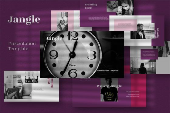Business Models: Jungle Powerpoint Template #06790