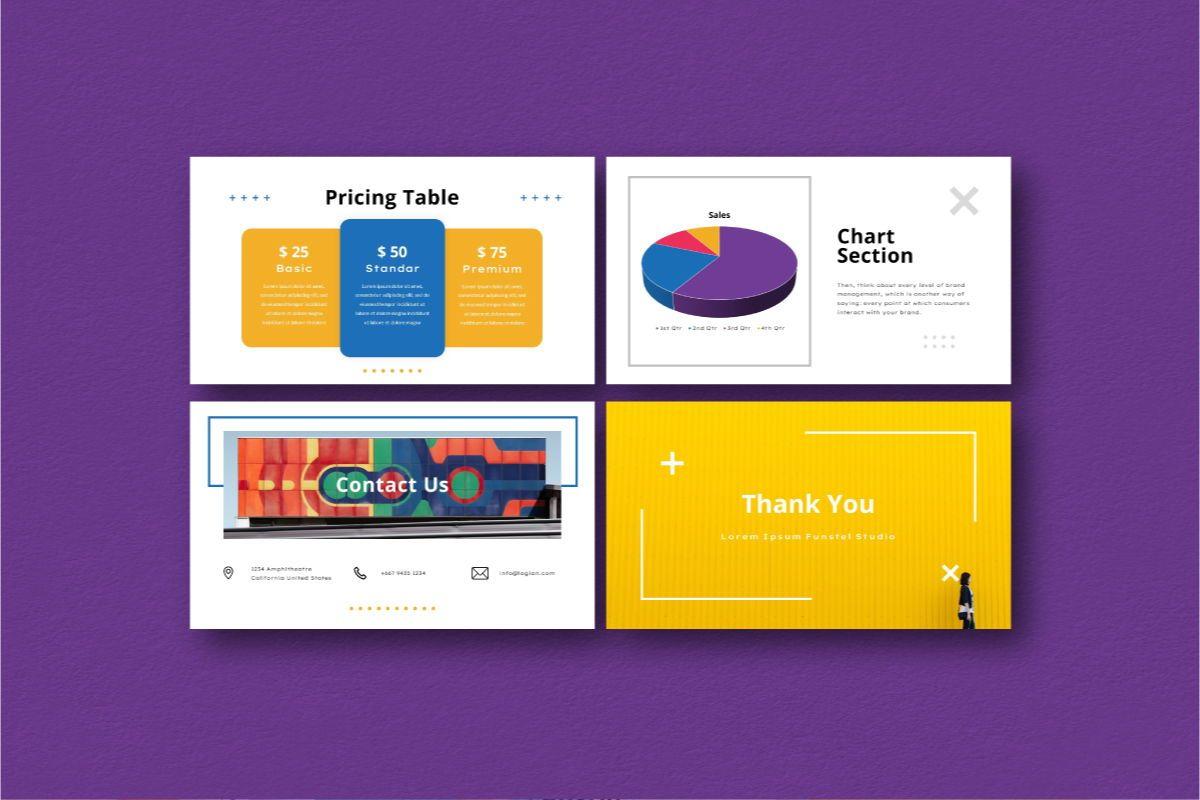 Funstel Google Slides Template, Slide 7, 06806, Business Models — PoweredTemplate.com