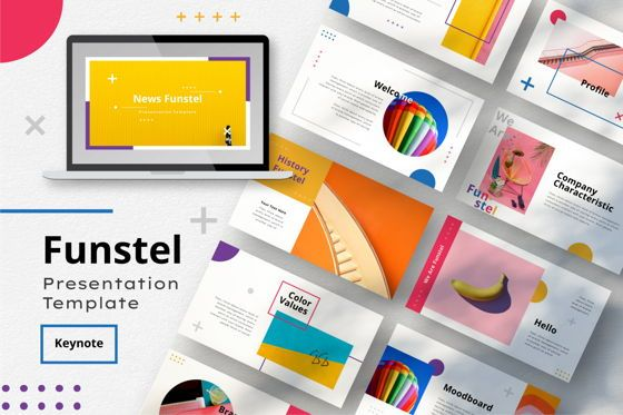 Business Models: Funstel KeynoteTemplate #06807