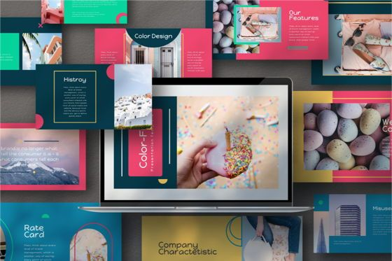 Business Models: Color Fun Powerpoint Template #06808