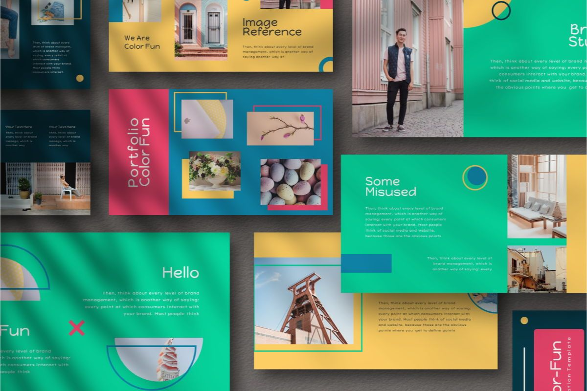 Color Fun Powerpoint Template, Slide 2, 06808, Business Models — PoweredTemplate.com